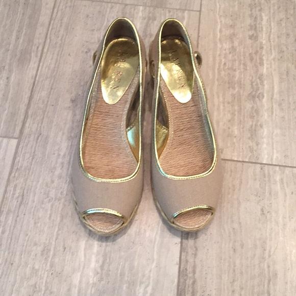 Ralph Lauren Shoes - Shoes, espadrille, wedge, new, size 6, gold